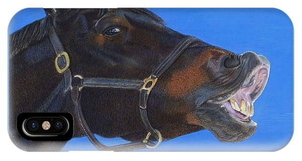 Funny Face - Horse And Child IPhone Case