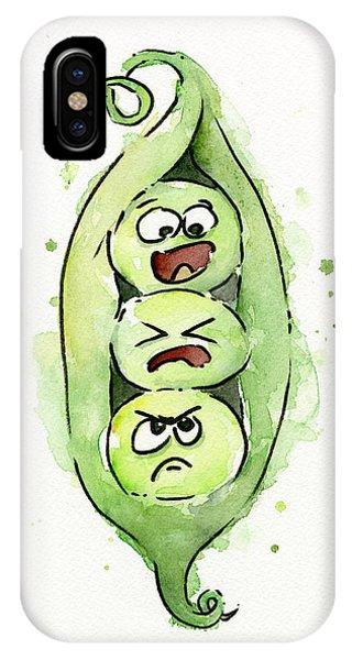 In iPhone Case - Funny Peas In A Pod by Olga Shvartsur