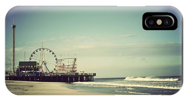 New Jersey iPhone Case - Funtown Pier Seaside Heights New Jersey Vintage by Terry DeLuco
