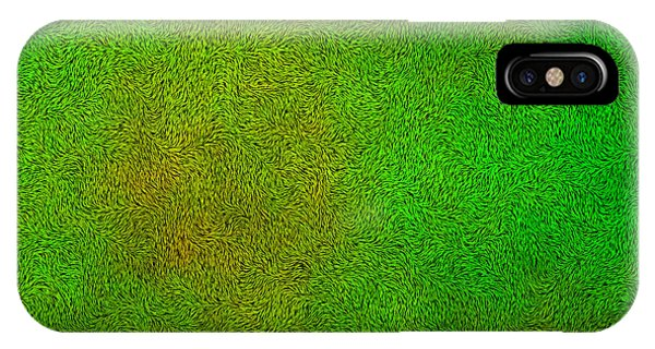 St. Patricks Day iPhone Case - Furry Green Texture Background by Valentino Visentini