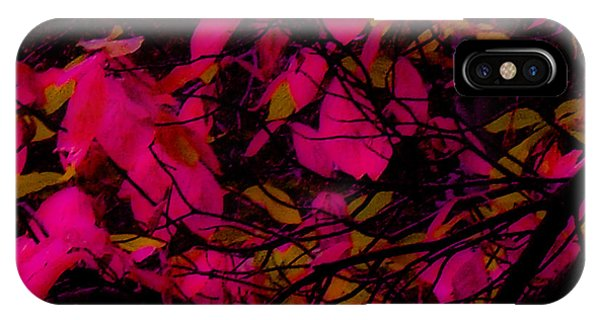 Fuscia Leaves IPhone Case
