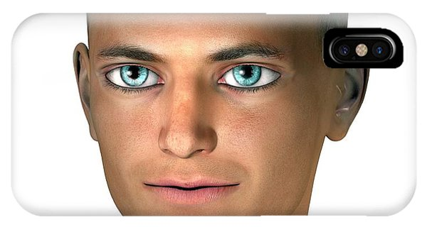 Head And Shoulders iPhone Case - Future Human by Claus Lunau