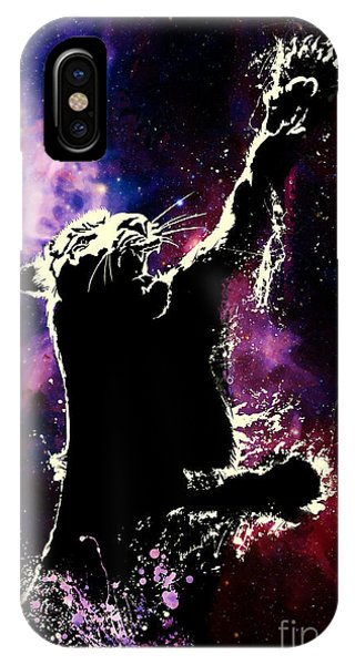 Wild Life iPhone Case - Galactic Tiger by Sassan Filsoof