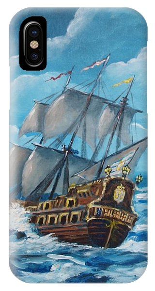 Galleon At Night IPhone Case