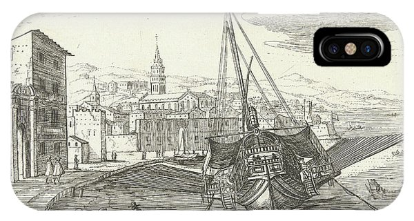Galley In An Italian Port, Cornelis Bol, Franois Langlois IPhone Case