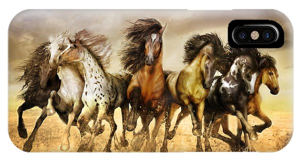 Southwest iPhone Case - Galloping Horses Full Color by Shanina Conway