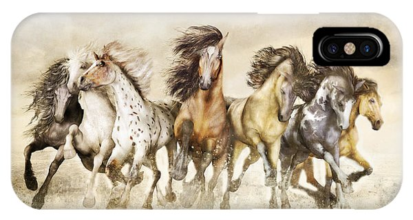 Galloping Horses Magnificent Seven IPhone Case