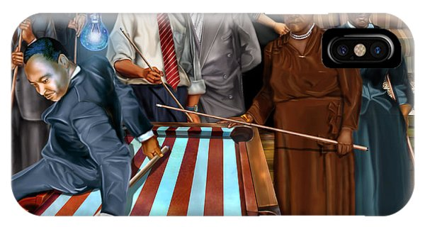 Political iPhone Case - Game Changers And Table Runners P2 by Reggie Duffie