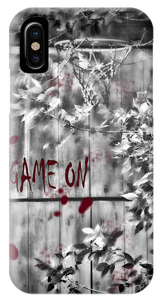Game On Basketball Black And White IPhone Case