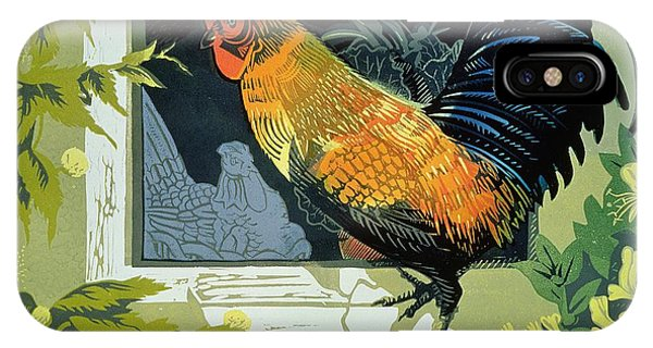 Gamecocks iPhone Case - Gamecock And Hen by Carol Walklin