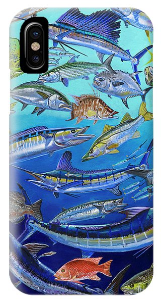 Bahamas iPhone Case - Gamefish Collage In0031 by Carey Chen