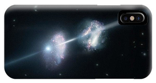 Gamma-ray Burst And Galaxies Phone Case by L. Calcada/european Southern Observatory/science Photo Library