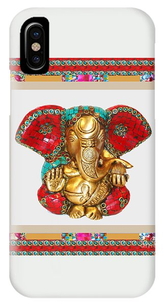 Ganapati Ganesh Idol Hinduism Religion Religious Spiritual Yoga Meditation Deco Navinjoshi  Rights M IPhone Case
