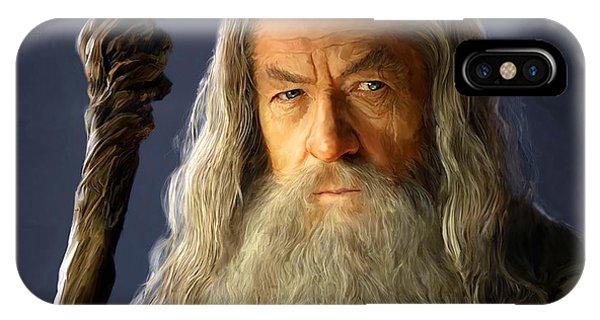 Wizard iPhone Case - Gandalf by Paul Tagliamonte