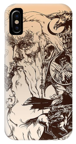 Wizard iPhone X / XS Case - gandalf- Tolkien appreciation by Derrick Higgins