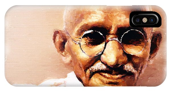 Gandhi In Color IPhone Case