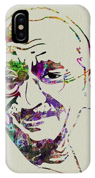Leader iPhone Case - Gandhi Watercolor by Naxart Studio
