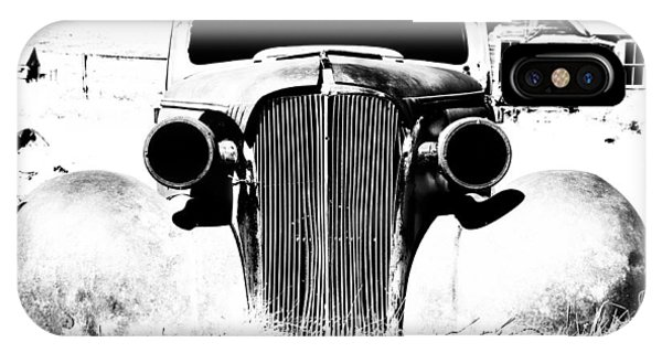 Bodie Ghost Town iPhone Case - Gangster Car by Cat Connor