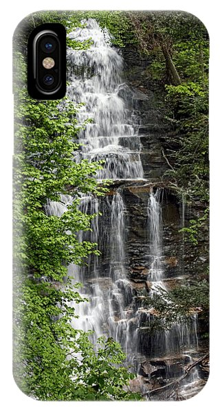 Ganoga Falls Through The New Spring Foliage IPhone Case