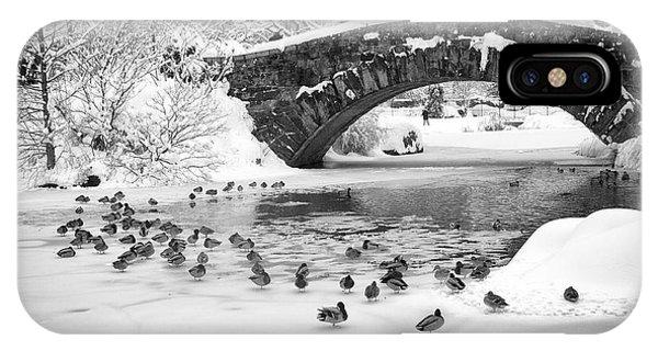 Gapstow Bridge In Snow IPhone Case