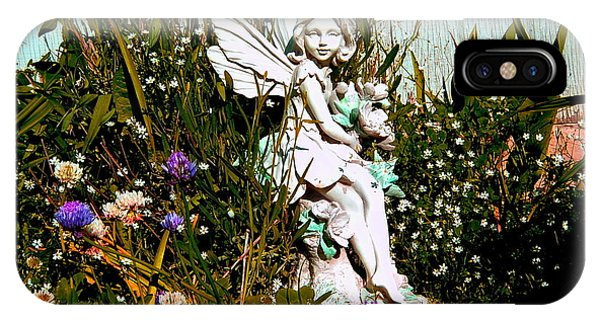 Garden Angel Phone Case by Mavis Reid Nugent