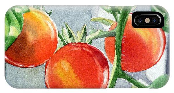 Garden Cherry Tomatoes  IPhone Case