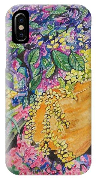 Garden Flowers In A Pot IPhone Case