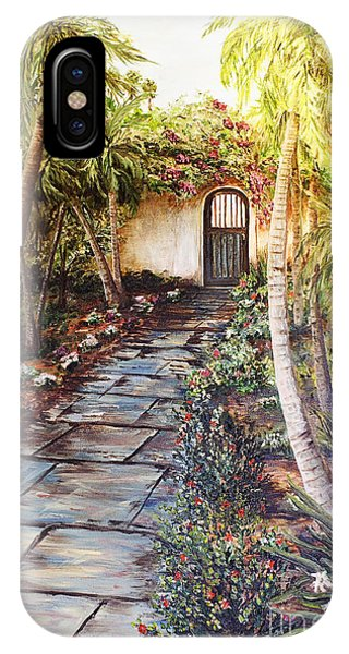Garden Gate To Rosemary's Cottage IPhone Case