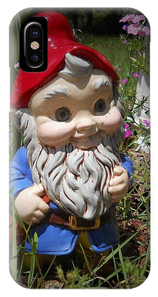 IPhone Case featuring the photograph Garden Gnome by Judy Hall-Folde