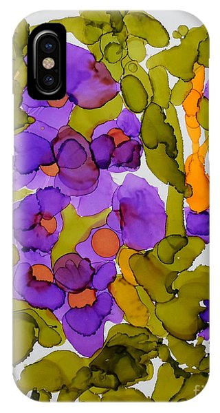Garden Of Hollyhocks IPhone Case