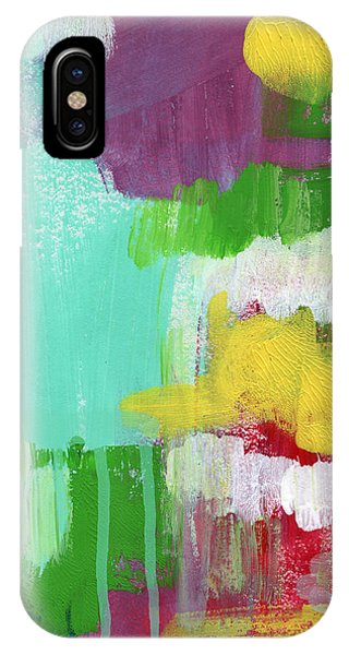 Colorful Flowers iPhone Case - Garden Path- Abstract Expressionist Art by Linda Woods