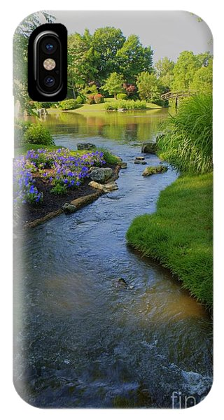 Garden Stream Hdr #9795 IPhone Case