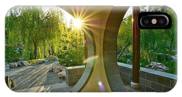 Golden Gardens iPhone Case - Garden Sun - Beautiful Chinese Garden At The Huntington Library. by Jamie Pham