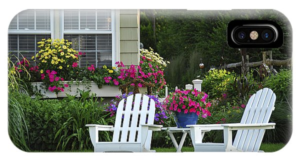 Garden With Lawn Chairs IPhone Case