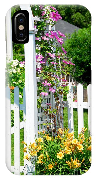 Garden With Picket Fence IPhone Case