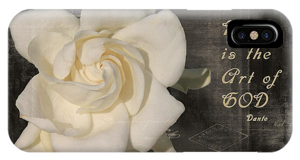 Gardenia And Quote IPhone Case
