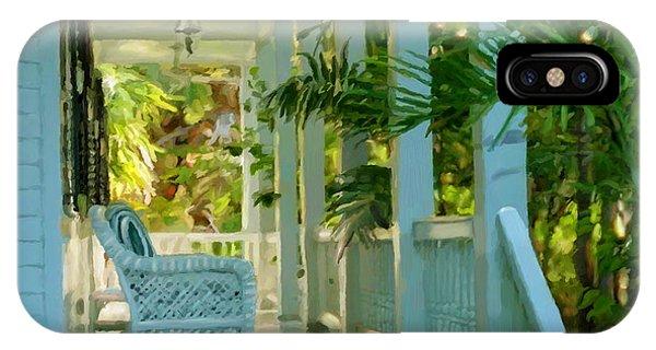 Gardens Porch In Key West IPhone Case