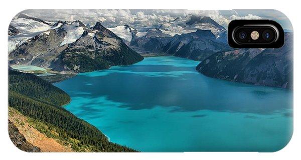 Garibaldi Lake Blues Greens And Mountains IPhone Case
