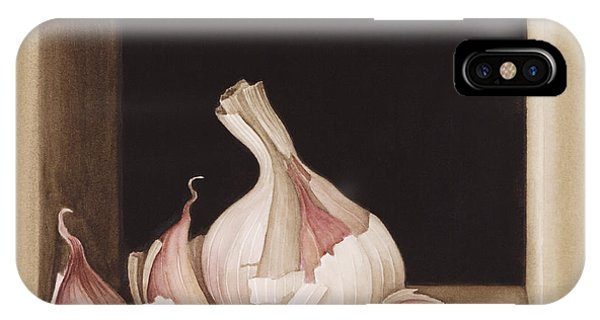Vegetables iPhone Case - Garlic by Jenny Barron