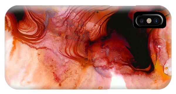 Garnet Sea - Abstract Art By Sharon Cummings IPhone Case
