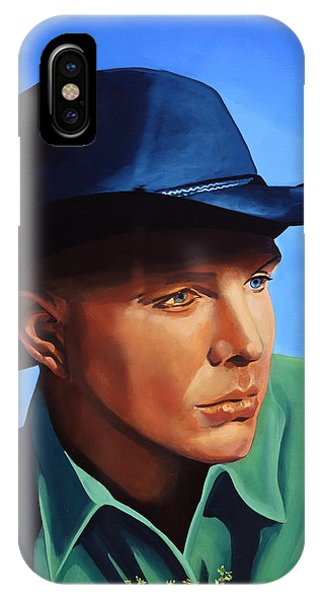Saxophone iPhone Case - Garth Brooks by Paul Meijering