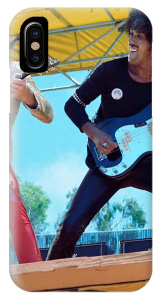 Gary Moore And Phil Lynott Of Thin Lizzy At Day On The Green 4th Of July 1979 - 1st Color Unreleased IPhone Case