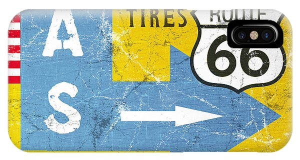 Road Signs iPhone Case - Gas Next Exit- Route 66 by Linda Woods