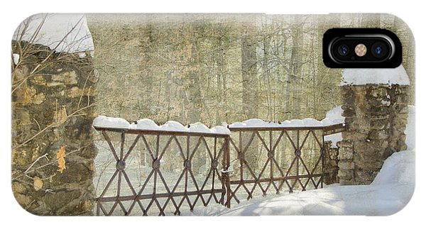 Gated In The Snow IPhone Case