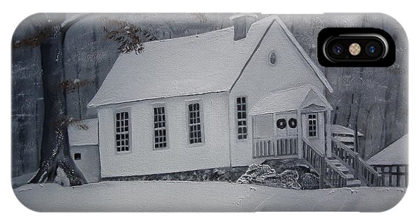 Gates Chapel - Ellijay - Signed By Artist IPhone Case