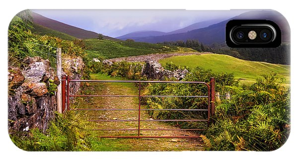 Gates On The Road. Wicklow Hills. Ireland IPhone Case