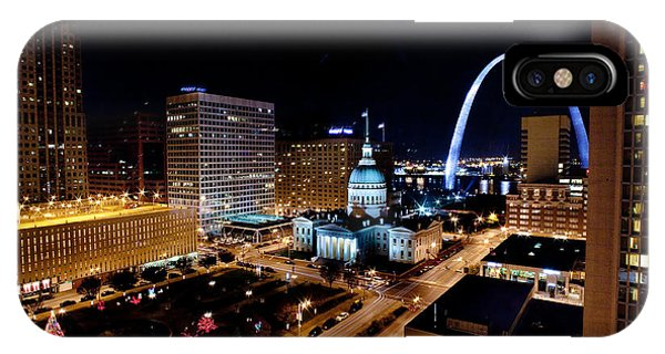 Gateway Arch St Louis Night IPhone Case