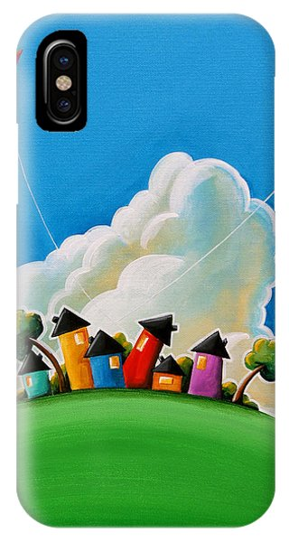 Houses iPhone Case - Gather Round by Cindy Thornton
