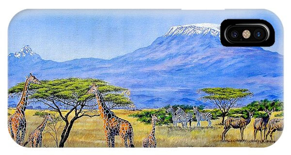 Gathering At Mount Kilimanjaro IPhone Case