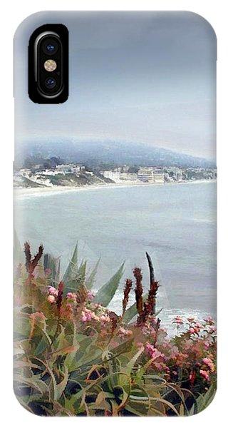 Laguna Beach iPhone Case - Gathering Coastal Storm by Elaine Plesser